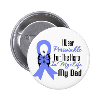 Esophageal Cancer Ribbon Hero My Dad 6 Cm Round Badge