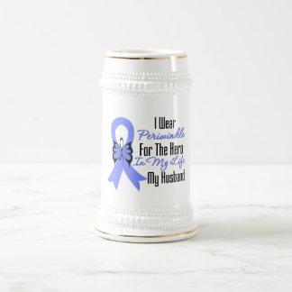 Esophageal Cancer Ribbon Hero My Husband Mug