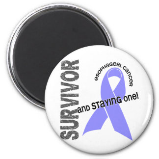 Esophageal Cancer Survivor 6 Cm Round Magnet
