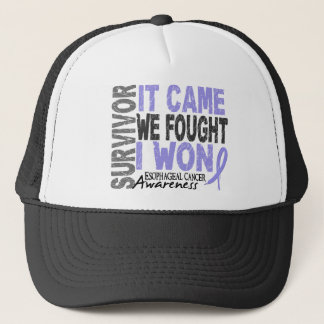 Esophageal Cancer Survivor It Came We Fought I Won Trucker Hat