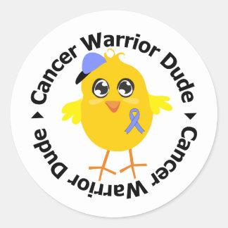 Esophageal Cancer Warrior Dude Sticker