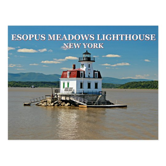 Esopus Meadows Lighthouse, New York Postcard