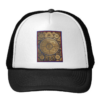 ESOTERIC GOLDEN THANGKA ART TRUCKER HAT