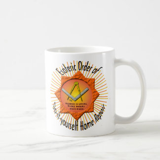 esoteric order of do-it-yourself home repair basic white mug