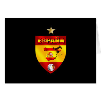Espana 1 star champions gift greeting card