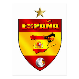 Espana 1 star champions gift postcard