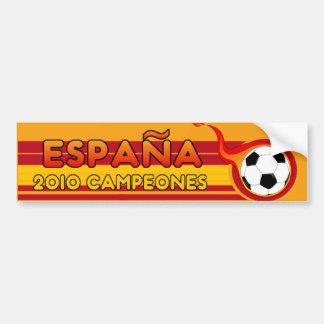 Espana 2010 Campeones Soccer Bumper Sticker