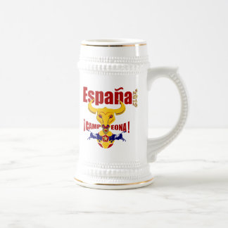 España 2012 Campeona Jarro de Cerveza Spain Bull Coffee Mug