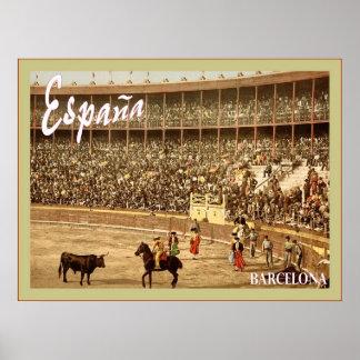 España ~ Barcelona ~ Vintage Travel Poster