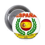 España Campeón del Mundo 2010 -d11 6 Cm Round Badge