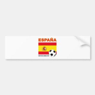 España Campeón del Mundo Bumper Sticker