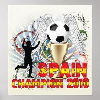 España Campeón Del Mundo Posters