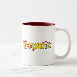 Espana flag logo - flag of Spain España logo Two-Tone Mug