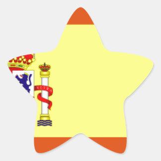 España Flag Star Sticker