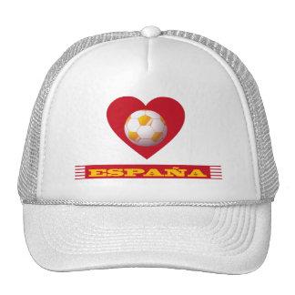 ESPAÑA Fútbol Corazón y Bufanda Brasil 2014 Gorro
