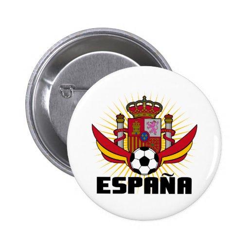España Soccer 6 Cm Round Badge