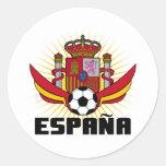 España Soccer Round Stickers