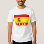 espana spain flag country spanish text name t shirts
