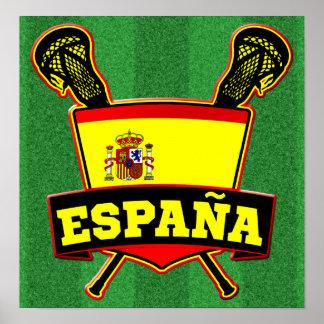 España Spain Lacrosse Poster