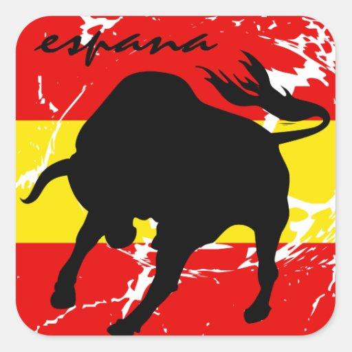 Espana Square Stickers
