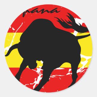 Espana Round Sticker
