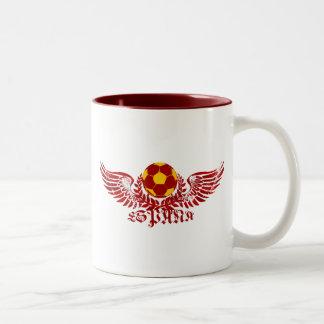 Espana winged soccer ball logo emblem gifts Two-Tone mug