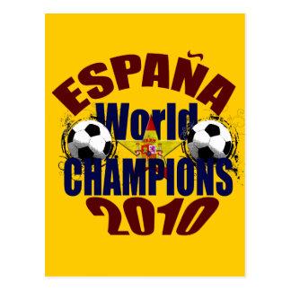 Espana World Champions flag of Spain Postcard