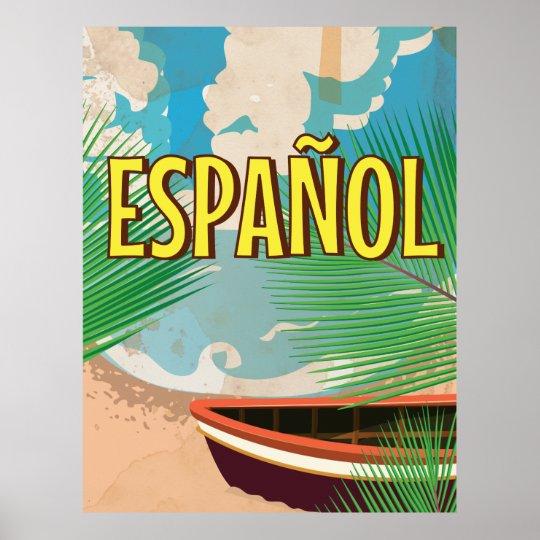 español vintage travel poster