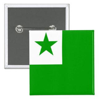 Esperanto High quality Flag 15 Cm Square Badge