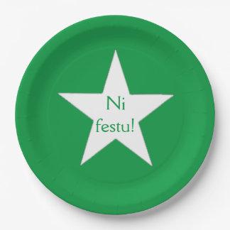 Esperanto: Ni festu! Paper Plate