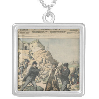 Espionage in France Arrest of an English colonel Silver Plated Necklace