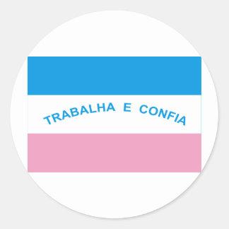 Espírito Santo, Brazil Flag Round Stickers