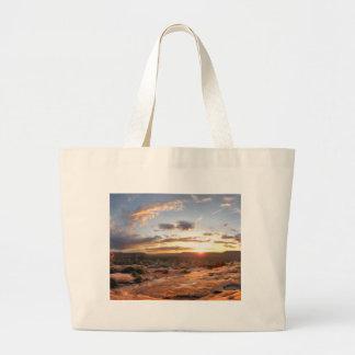 Esplanade Sunset - Grand Canyon - Thunder River Large Tote Bag