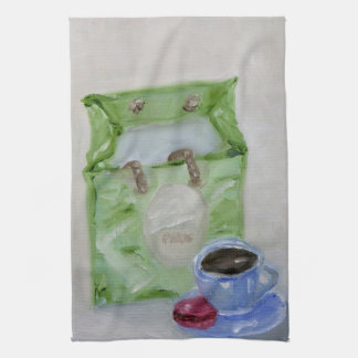 Espresso and Macaroon Kitchen Towel