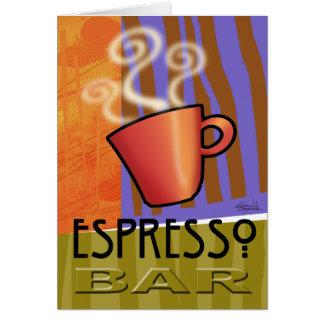 Espresso Bar Card