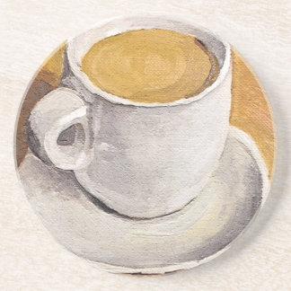 Espresso Cup and Saucer Sandstone Coaster