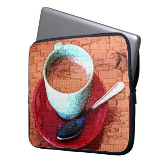 Espresso Cup and Spoon Word Cloud Laptop Sleeve