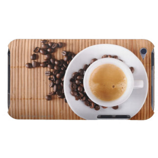 Espresso cup on a mat barely there iPod cases