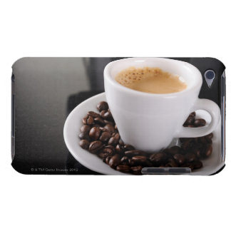 Espresso cup on black granite counter iPod touch covers