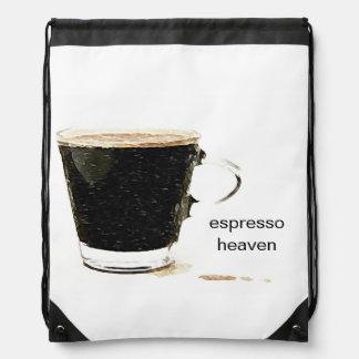 Espresso Heaven Drawstring Backpack