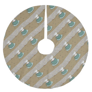 Espresso Hill Brushed Polyester Tree Skirt