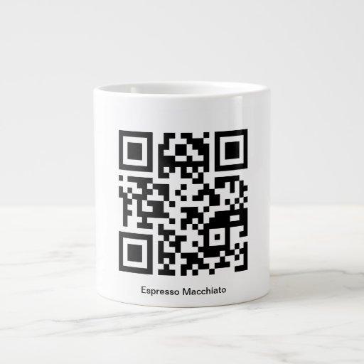 Espresso Macchiato QR-Code Cup Extra Large Mugs