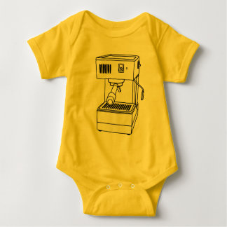Espresso machine baby bodysuit
