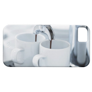 Espresso machine making coffee iPhone 5 cases