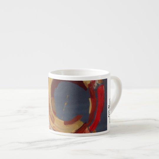 espresso mug with art by Paul