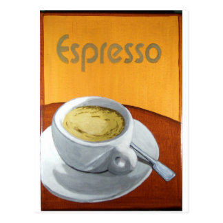 Espresso Painting Print Postcard