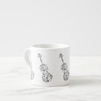 Espresso Violin Line Drawing Espresso Cup