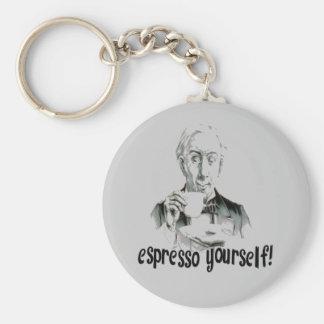 Espresso Yourself Basic Round Button Key Ring