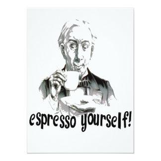 Espresso Yourself Personalized Invitations