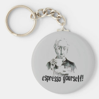 Espresso Yourself Basic Round Button Key Ring